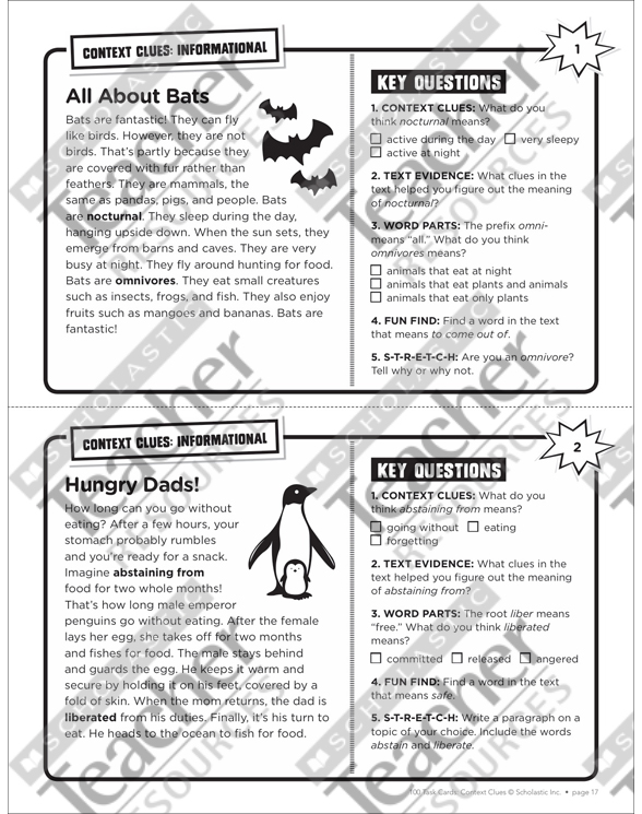 100 Task Cards: Context Clues by Justin McCory Martin