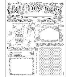 Personal Poster Set: 100th Day by Liza Charlesworth