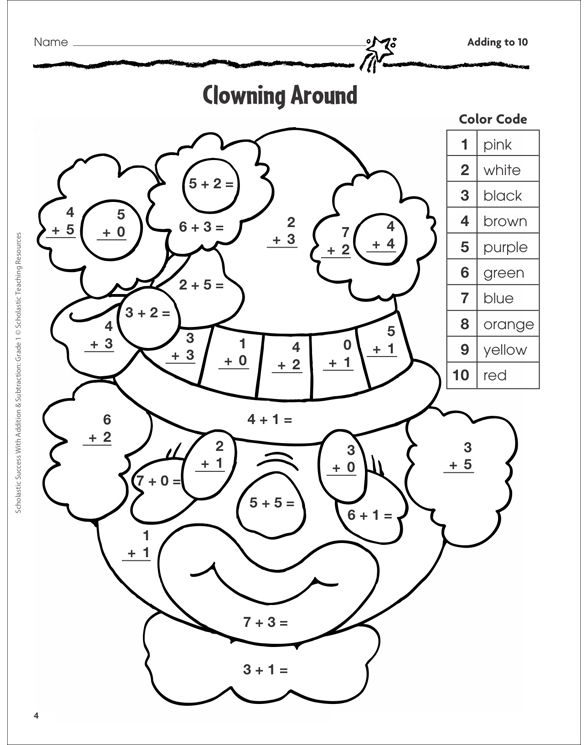 Scholastic Success With Addition & Subtraction: Grade 1