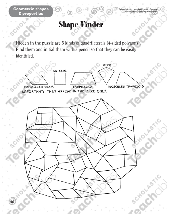 Shape Finder (Geometric Shapes & Properties): Scholastic