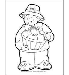 Pilgrim Boy (B&W) Reproducible Pattern by