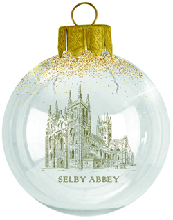 Glass Christmas Tree Bauble - 70mm - Clear