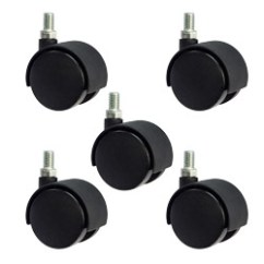 Chair Casters Threaded Stem Counter Height Office 2 Metric 10mm Set Of 5