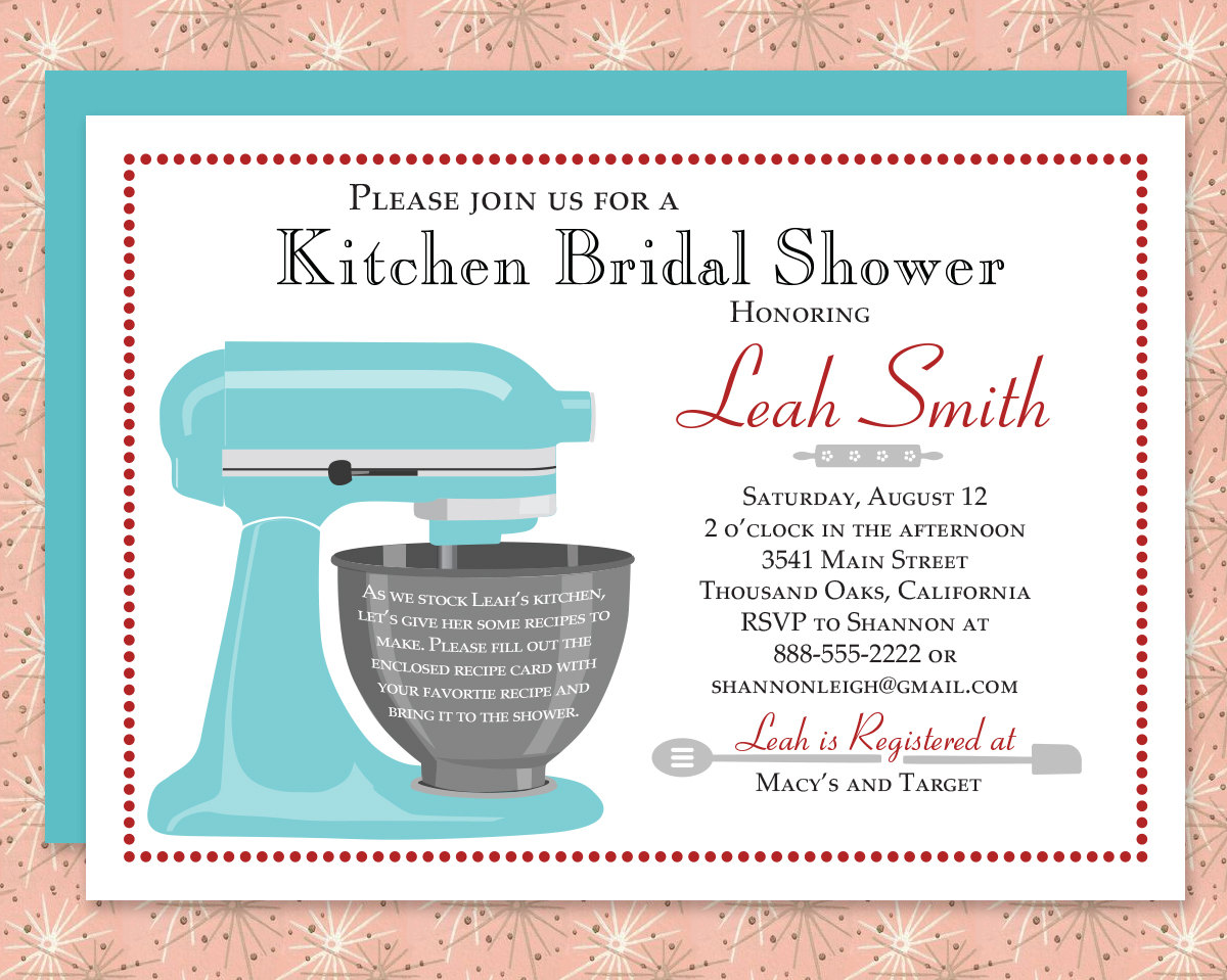 Custom kitchen bridal shower invitation recipe card digital custom kitchen bridal shower invitation recipe filmwisefo