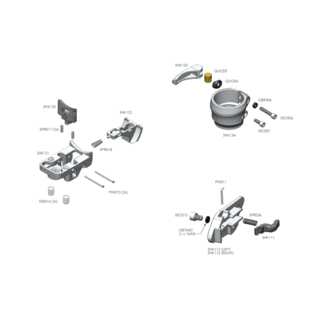 RSX – Parts by Diagram – Trigger Frame
