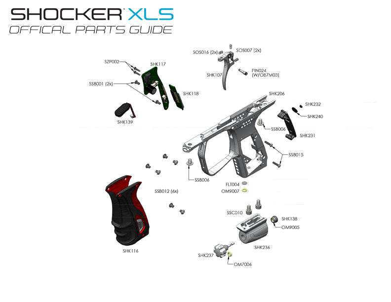 XLS – Parts by Diagram – Trigger Frame