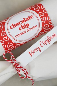 chocolate chip cookie dough gift wrapped like candy
