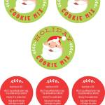 holiday cookie labels