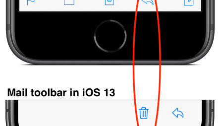 Be Careful in iOS 13's Mail App—the Trash Button Is Where Reply Used to Be!