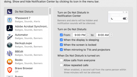 Keep Your Mac Quiet at Night and During Presentations with Do Not Disturb