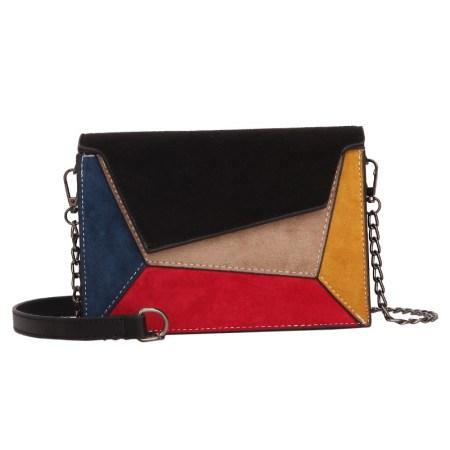black patchwork bag