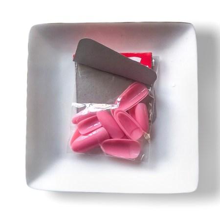 blush pink press on nails