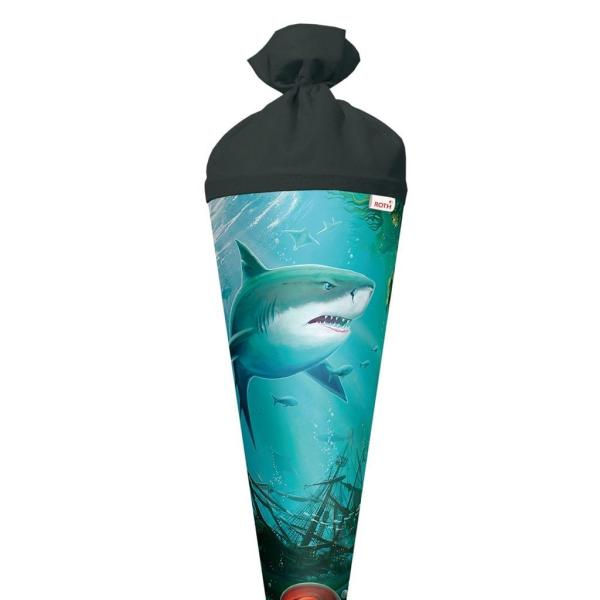 Schultüte Hai mit Krake 70cm rund, Filz | Iden