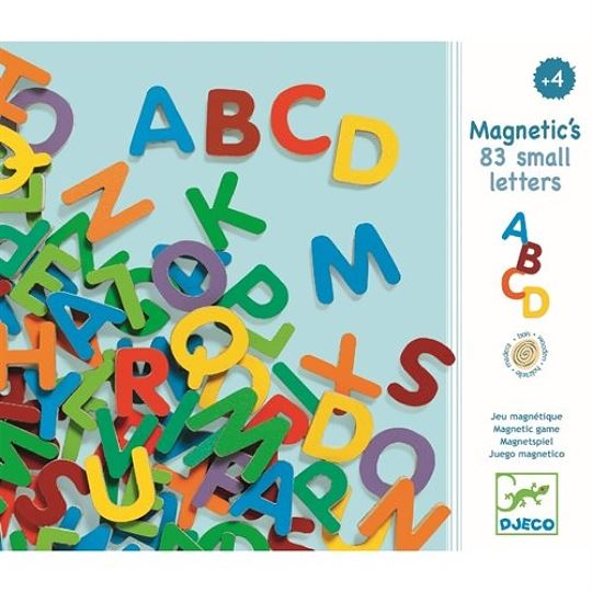 Holz Magnete: 83 small letters | Djeco