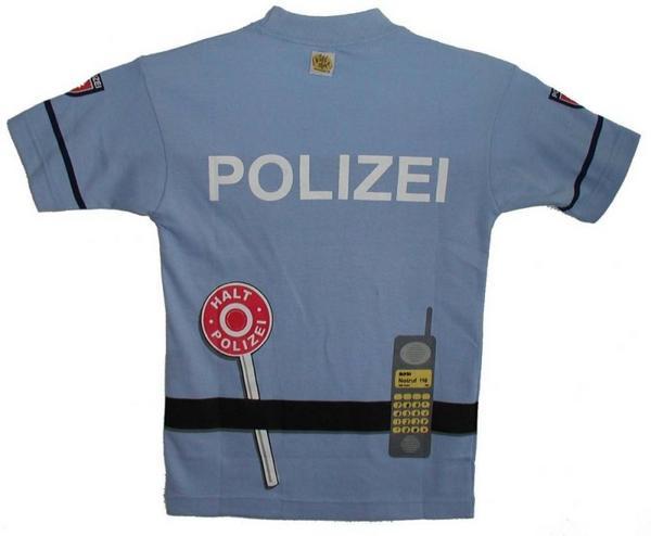 Polizei T-Shirt Blau Gr,116, 4-6J | Bestsaller