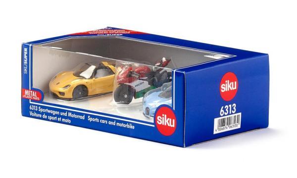 Sportwagen und Motorrad | SIKU