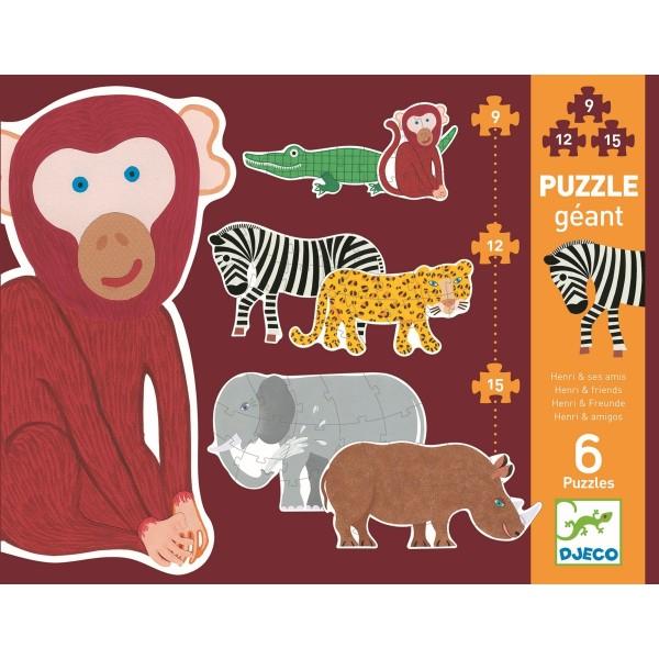 Erstes Puzzlen: Henri & friends | Djeco