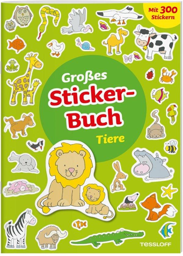 Großes Sticker-Buch Tiere | Tessloff Verlag