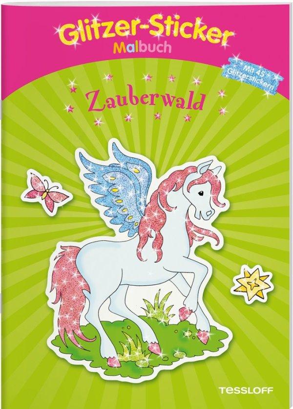Glitzer-Sticker Malbuch Zauberwald | Tessloff Verlag