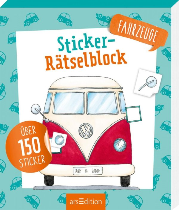 Sticker-Rätsel: Fahrzeuge | Ars Edition