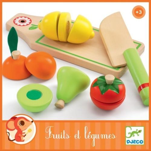 Rollenspiel Kinderküche: Früchte und Gemüse zum schneiden | Djeco
