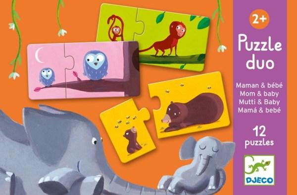 Lernspiel - Puzzle duo/trio: Mami & Kind | Djeco