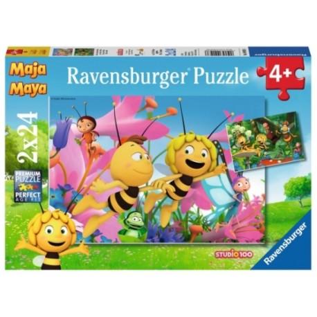 BM:Die kleine Biene Maja 2x24p-2 X 24 Teile | Ravensburger Spielverlag