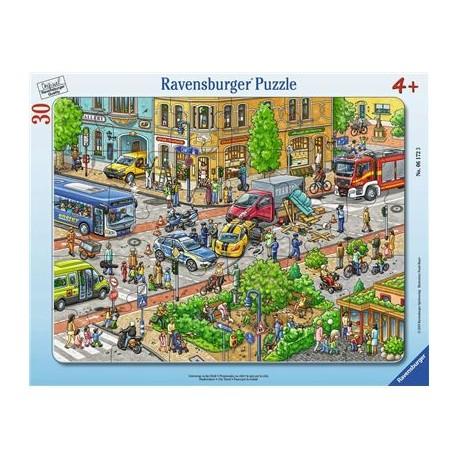 Unterwegs in der Stadt 30-48p-30-48 T, Rahmenpuzzles | Ravensburger Spielverlag