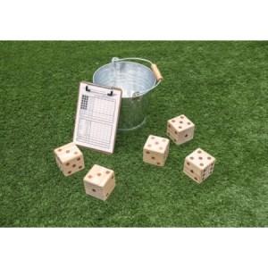 Riesen Würfelspiel, 5 Würfel, 50 Spielzettel | Vedes