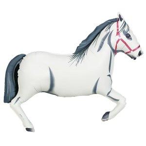 "Pferd, weiß 43"" / White Horse 43 (2) | Karaloon Ballon GmbH"