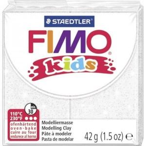 FIMO kids 42g - glitter weiß | Vedes