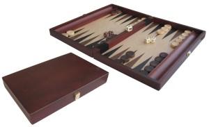 Backgammon Holz, gebeizt, 35 x 23 cm | Weible
