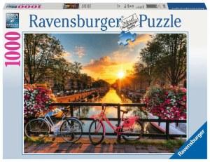 Fahrräder in Amsterdam 1000p-1000 Teile   Ravensburger Spielverlag