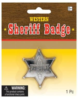 Kostümzubehör Sheriff-Stern Silver | Amscan