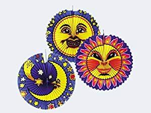 Lampion Sonne & Mond sortiert 36 - 42 cm | Amscan