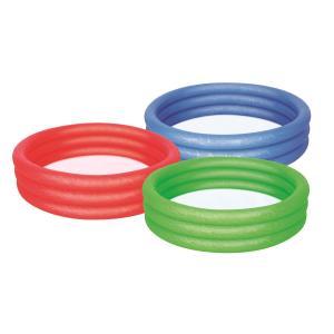 Pool 3-Ring Uni grün,rot,, blau, ca.102x25cm | Iden