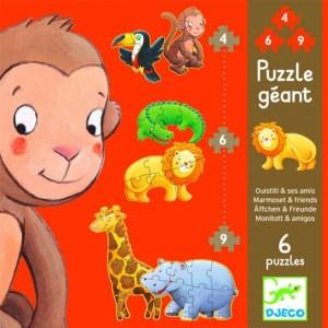 Erstes Puzzlen: Marmoset & Freunde | Djeco