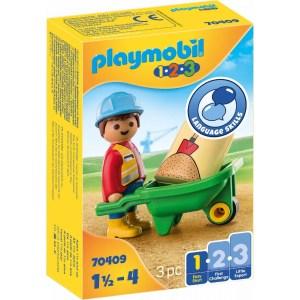 Bauarbeiter mit Schubkarre | Playmobil