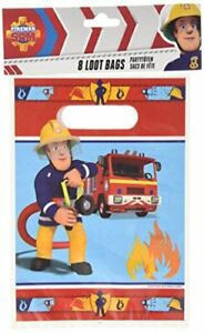 8 Partytüten Fireman Sam | Amscan