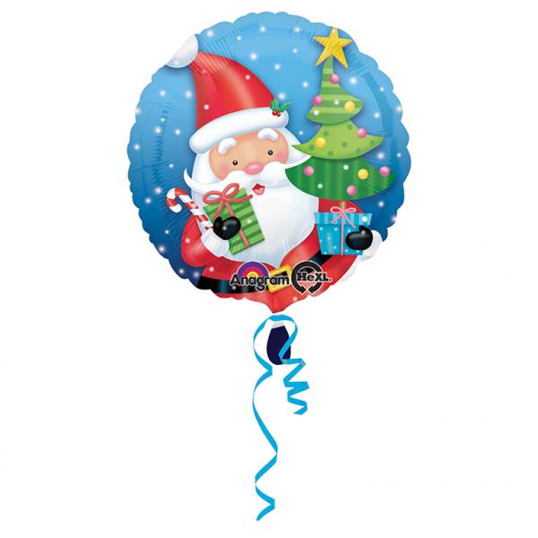 Standard Santa mit Baum Folienballon S40 verpackt   Amscan