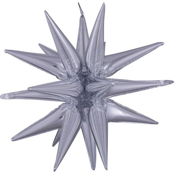 Multi Magic Star' Silber Gross Folienballon P70 verpackt 76cm x 88cm   Amscan