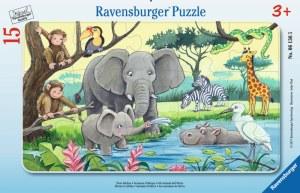 Tiere Afrikas 15p-15 T. Rahmenpuzzles | Ravensburger Spielverlag