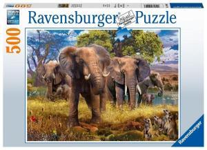 Elefantenfamilie 500p-500 Teile | Ravensburger Spielverlag