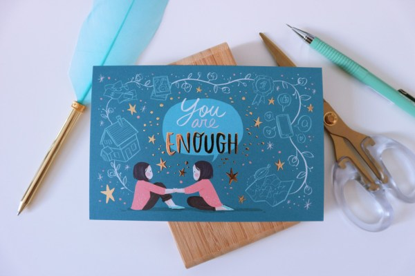 You are enough postcard - shop.srtam.com