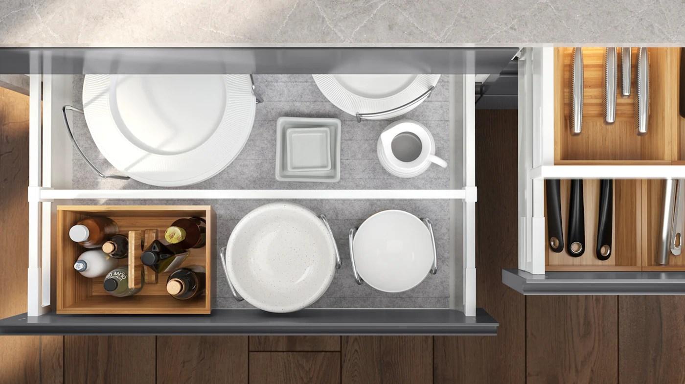 tiroirs et armoires de cuisine ikea