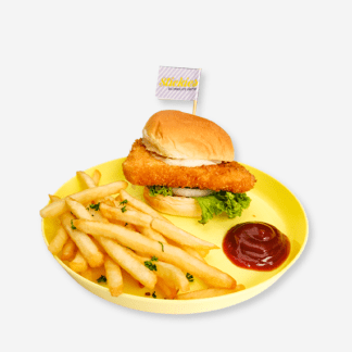 Fish Slider and Fries