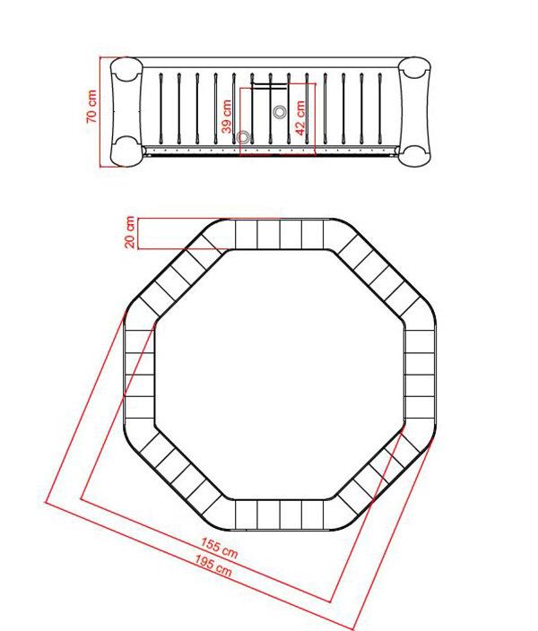Spa hinchable Rover 56 plazas  Jacuzzi hinchable