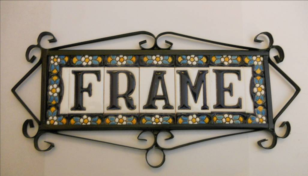 typic spanish metalic frame for tiles of 7 5 cm height