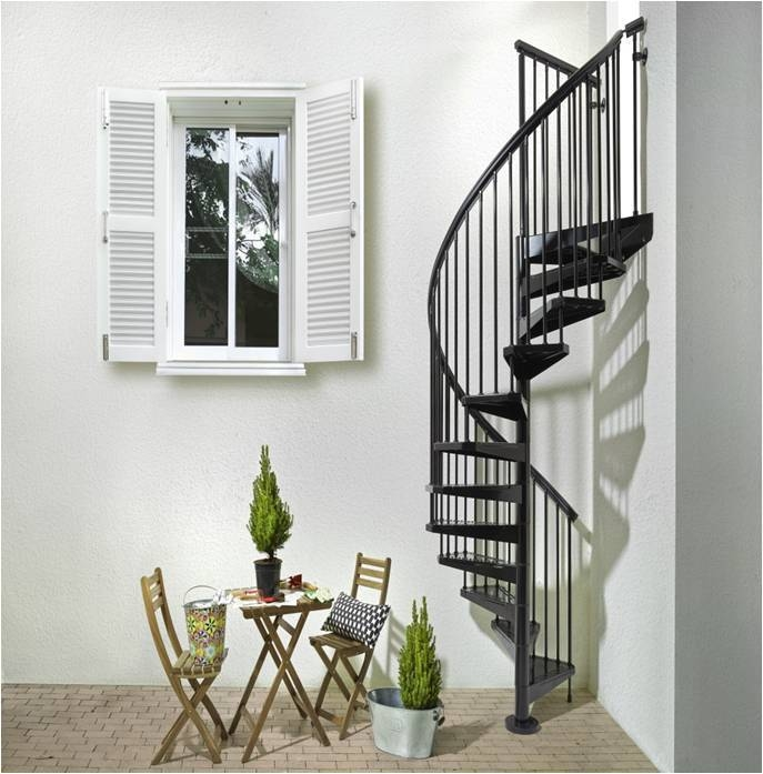 1001 Stairs Metal Spiral Staircase Type Sorrento | Steel Spiral Staircase Design | Concrete | Outdoor | Wood | Structural | Cast Iron