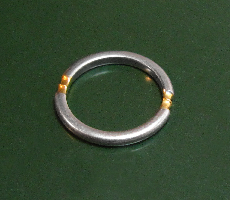 Sehr schner 950er PLATINRING m 900er GOLD  50 g